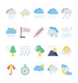 weather flat colored icons 2 vector image