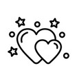 wedding hearts icon on white background vector image vector image