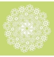 White lace serviette on green background vector image