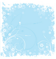 winter grunge vector image vector image