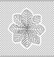 winter snowflake sticker ornate vector image