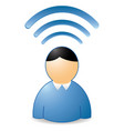 wireless man vector image vector image