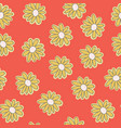 yellow daisies seamless pattern background vector image