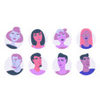 young people avatar icon set vector image
