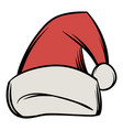 christmas hat icon cartoon vector image