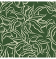 Seamless Leaves Engraving Pattern vector image