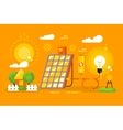 Solar battery design concept vector image