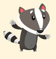 277badger vector image vector image