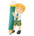 a boy with pencil vector image vector image