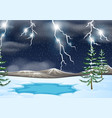 a thunderstorm nature background vector image