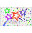 Abstract holiday background with stars and vector image vector image