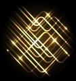 Abstract neon gold background with lines vector image