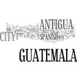 antigua guatemala hotel text word cloud concept vector image vector image