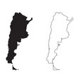 argentina country map black silhouette