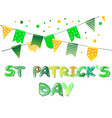 banner for st patricks day with flags and balloons vector image