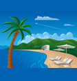 beach resort journey vector image vector image