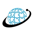 Bussiness globe logo vector image