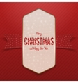 Christmas white big Poster with Snowflakes vector image vector image