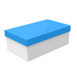 closed box white packaging with blue lid vector image vector image