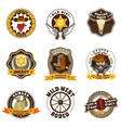 Cowboy Labels Set vector image