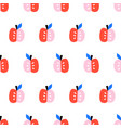 cute apples seamless pattern repeating vector image vector image