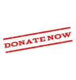 Donate Now Watermark Stamp vector image vector image