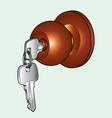 Door knob vector image vector image