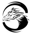 Dragon logo design template dragon icon vector image
