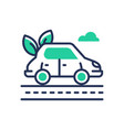 eco car - modern single line icon vector image vector image