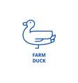 farm duck line icon concept farm duck flat vector image vector image