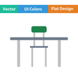 Flat design icon of Table and chair vector image vector image