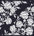 floral pattern with elegant peony flowers buds and vector image vector image