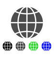 globe flat icon vector image vector image