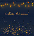 glowing christmas lights with colorful vector image vector image