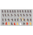 grey cyborg enemy game sprites vector image vector image
