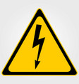 high voltage warning sign vector image
