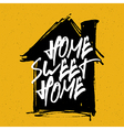 home sweet home on house silhouette vector image vector image