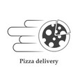 icon pizza delivery on white background vector image vector image