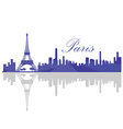 Isolated Paris skyline vector image vector image