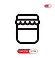jam bottle icon vector image vector image