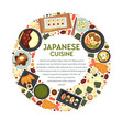 japanese cuisine menu sushi and seafood food of vector image vector image