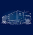 large truck with separate trailer for vector image vector image