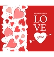 Love you lettering Greeting Card on red back vector image vector image