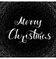 Merry Christmas Lettering Snow vector image vector image