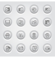 Mobile Devices and Services Icons Set vector image vector image