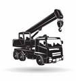 monochrome auto crane icon vector image