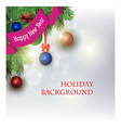 New year greeting card Light background vector image vector image