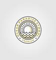 ocean paradise line art logo symbol design vector image vector image