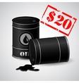 Oil Barrel Price 20 dollars vector image vector image