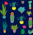 pattern with houseplant vector image
